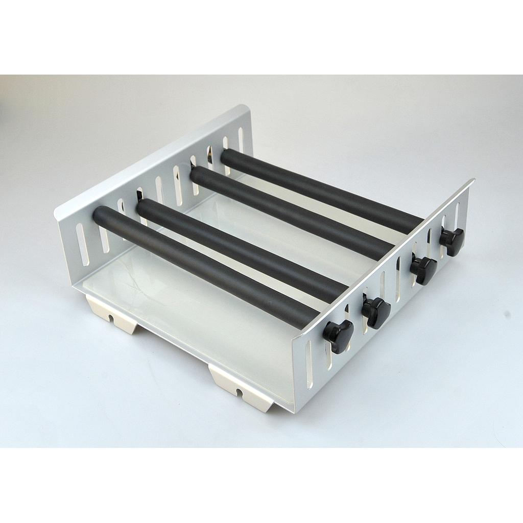 Universal Platform with 4 vertically adjustable clamping bars for use with various flasks/vessels