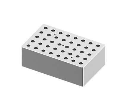 Block, used for 0.5mL tubes, 40 holes (15 x 9.5 x 5cm)