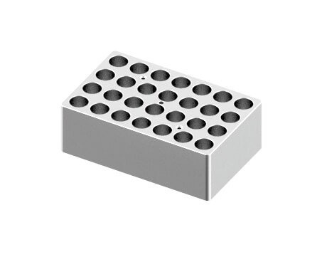 Block, used for 5/15mL tubes, 28 holes (15 x 9.5 x 5cm)