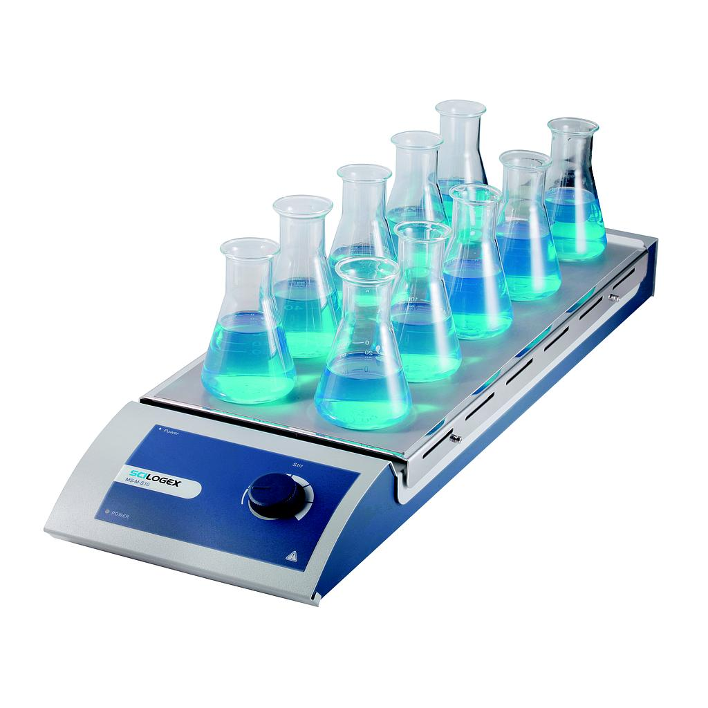 SCILOGEX SCI-S10 10-Place Analog Magnetic Stirrer